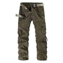 Hot Military Trousers Australia - (NO BELT) 2018 Autumn Spring military pants for men fashion army HOT tactical trousers large size 28-40