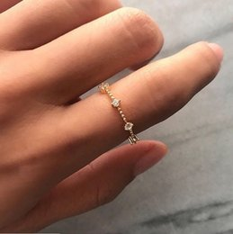 Rose Gold Cluster Engagement Rings Australia - Tiny Dainty Stacking Stackable 7 Diamond Ring Rose Gold Engagement Ring Christmas Gift for Women