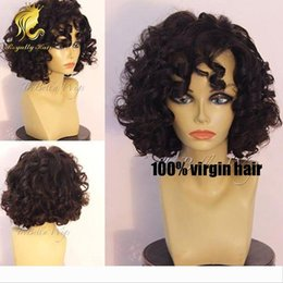 african black hair styles UK - Short style! natural black short curly bob wig curly full lace human hair wigs bob lace front wig for african american black women