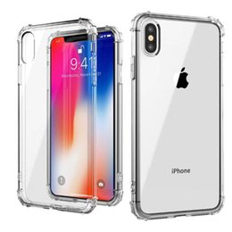 $enCountryForm.capitalKeyWord Australia - Clear TPU Cell Phone Case Ultra-thin For iPhone Xs-Max 6 7 8plus XR 0.8mm 1mm 1.5mm Thick Airbag Anti-fall Case DHL