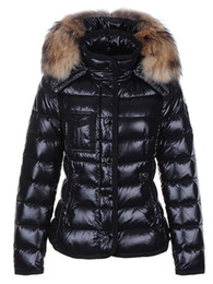 Wholesale fur collared coats womens resale online - 2019 Women Winter Warm Down Jacket With Fur collar Feather Dress Jackets Womens Outdoor Down Coat Woman Fashion Jacket Parkas