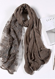 Scarfs Cotton Australia - 9 spring and autuand AmericaUACY201n retro lace mn new European tie dyed cotton and linen crossover shawl scarf female