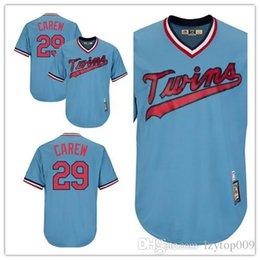 2b45291822e Men's Twins 29 Rod Carew Majestic Light Blue Cooperstown Collection Cool  Base Player Minnesota women kids Jersey