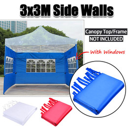 $enCountryForm.capitalKeyWord Australia - Oxford Cloth Party Tent Side Walls Waterproof Garden Patio Outdoor Canopy 3x3m Sun Wall Sunshade Shelter Tarp Sidewall Sunshade