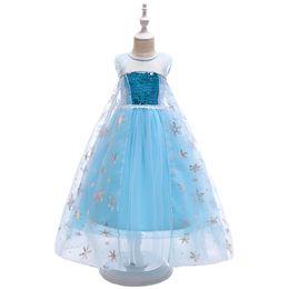 Tutu Princess Australia - Kids Pretty Romanti Tutu Mesh Princess Multi Coloured Flower Party Spring Blue Dresses Patterns Cosplay Dress For Girls
