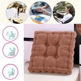 green office chairs Australia - 50x50cm Square Thickened Cushion Pillow Chair Pad Office Home Car Seat Cushion Sofa Seat Buttocks Pads