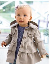 Down coat for baby online shopping - Baby Toddler Girls Lapel Waistband Windbreaker Wind Coat Dust Coat Outwear Jacket For Winter Autumn Kids Clothing