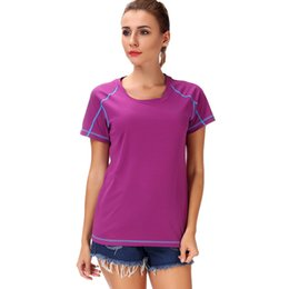 $enCountryForm.capitalKeyWord Australia - LELINTA Women Quick Dry Sport Yoga Shirt Short Sleeve Breathable Exercises Yoga Tops T-Shirts For Gym Running Fitness Sportwear