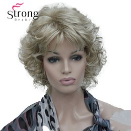 cheap blonde full lace wigs NZ - Cheap Synthetic None-Lace Wigs StrongBeauty Short Soft Shaggy Layered Blonde Mix Full Synthetic Wig Curly Women's Wigs
