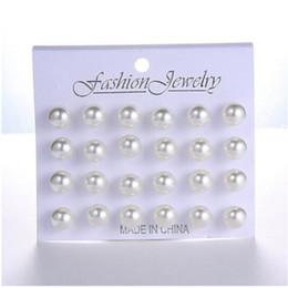 $enCountryForm.capitalKeyWord Australia - 12 pairs set White Simulated Pearl Stud Earrings Set For Women Jewelry Accessories Piercing Ball Earrings kit Bijouteria brincos