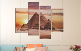 $enCountryForm.capitalKeyWord Australia - Canvas Pictures For Living Room Wall Art Poster Framework 5 Pieces Pyramid Paintings Black White Landscape Home Decor