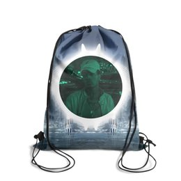 Strung Feathers Australia - Drawstring Sports Backpack XXXTentacion Ice Hotel characterClassic durable Travel Beach Pull String Backpack