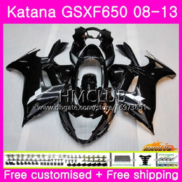 gsxf fairings UK - Kit For SUZUKI KATANA GSX650F GSXF 650 GSXF-650 08 09 10 11 12 13 14 14HM.3 GSXF650 2008 2009 2010 2011 2012 2013 2014 Stock black Fairing