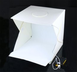 $enCountryForm.capitalKeyWord Australia - 20CM Portable Folding Lightbox Photography Studio Softbox LED Light Soft Box for Camera Photo Background
