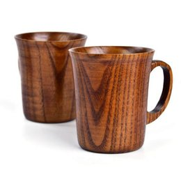 handles manufacturers Australia - Manufacturer direct selling natural jujube wood cup with handle new Mug office water cup Japanese