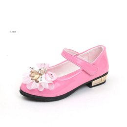 Boy model girl dresses online shopping - 2019 Girls Flat shoes white dress shoes models bowknot princess wedding leather students color baby for children