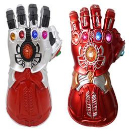 Glove Mask Australia - 2019 New Avengers 4 Iron Man glove costume Led infinity gauntlet thanos gloves Avengers Superhero Hulk prop IronMan PVC mask Adult