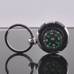 Small Compass Pendant NZ - Creative gifts carry small pendant tire compass key ring personality key pendant durable and not easy to damage