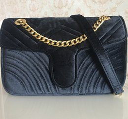 lycra strap Australia - Hot Sale Fashion Handbags Women Bags Designer Handbags Women 26cm gold Chain Strap Velvet Bag Crossbody Shoulder Bags Totes messenger be832#