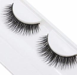 Long Synthetic False Eyelashes Australia - 1 Pair Woman False Eyelashes Cross Thick False Eye Lashes Extension Makeup Super Natural Long Fake Eyelashes Tools