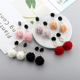 $enCountryForm.capitalKeyWord Australia - 2019 European and American style personality fashion jewelry New ladies hair ball earrings long temperament simple wild ladies earrings