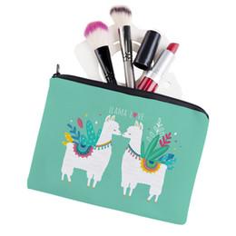 $enCountryForm.capitalKeyWord Australia - 2019 new printing Mori girl heart love alpaca square cosmetic bag toiletries storage bag ladies