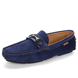 d188e6e1b55 Blue suede driving shoes men online shopping - Men Loafers Boat Shoes Mens  Casual Suede Leather
