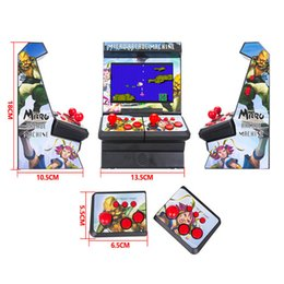 arcade games NZ - Mini Arcade Double Trend Handheld Game Console Classic Retro Game Console 16-bit Games New Street Fighter For Gift