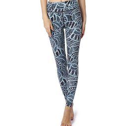 Trade digiTal online shopping - New yoga pants European and American fashion digital printing yoga nine pants High waist foreign trade yoga pants