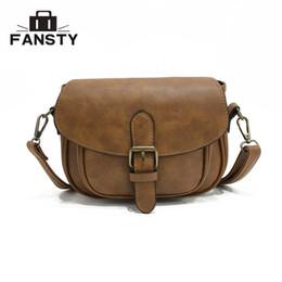 $enCountryForm.capitalKeyWord Australia - Fashion Pu Leather Small Shoulder Bags Brand Design Cheap Saddle Retro Cross Body Bags Messenger Women Leather Handbags