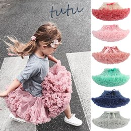ballet style dresses Canada - Children Bow Tutu Skirts Halloween Net yarn baby Girls tulle Princess skirt Ballet Dance costume 30 colors kids lace tutu Dress C728