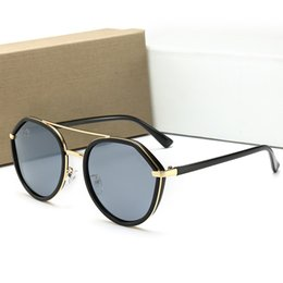 TiTanium rimless frames online shopping - 15 Colors To Choose Brand Designer Men Women Polarized Sunglasses Semi Rimless Sun Glasses Gold Frame Polaroid lens With Brown Case and box