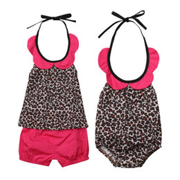 $enCountryForm.capitalKeyWord UK - Toddler Baby Girl Toddler Kids Clothes Sets Leopard Print Romper Sleeveless Backless Shorts 2pcs Set Girls 0-5T