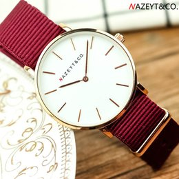 girl watch simple Australia - promotion Nazeyt ladie watch middle student girls 36mm ultra-thin simple design nylon wristwatch woman classic gift dresswatch