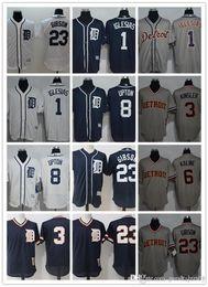 d858ea383 custom Men women youth Tigers Detroit Jersey 1 Jose Iglesias 3 Ian Kinsler  8 Justin Upton 23 Kirk Gibson Black White Baseball Jerseys