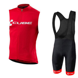 Cube Bicycle Clothing Australia - 2019 CUBE cycling Vests Set Summer MTB Bicycle Clothing Breathable Sleeveless Cycling Ropa Maillot Ciclismo Bike Jersey Clothes
