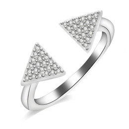 $enCountryForm.capitalKeyWord NZ - Triangle leaf diamonds ring for women luxury diamond crystal rings s925 silver plated copper zircons fashion jewelry gift for girlfriend