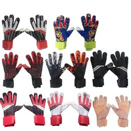 winter football gloves Canada - Professional Goalkeeper Kids Adult Gloves no Finger Protection Thickened Latex Soccer Football Tools Gloves Goal keeper Gloves
