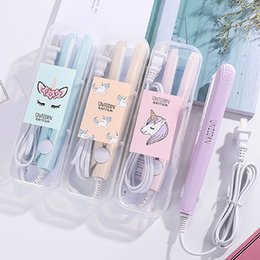 $enCountryForm.capitalKeyWord Australia - 2019 New Mini Hair Straightener Flat Iron Curling Beard Straightener Comb Crimper Curling Iron Hair Straightener Brush