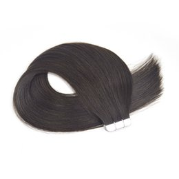 Chinese  Tape in Hair Extensions Human Hair 18 20 22 24 inch 50g pack 20pcs Seamless Skin Weft Remy Straight Hair 2# Dark Brown manufacturers