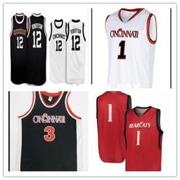 Özel Cincinnati Bearcats Basketbol Jersey Herhangi İsim Numara MEN KADIN GENÇLİK # 34 Jarron Cumberland 2. Keith Williams Dikişli indirimde