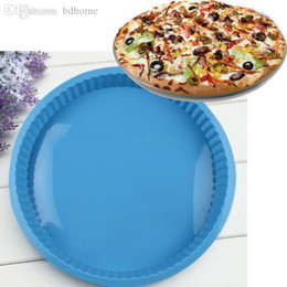 "wholesale pizza pans NZ - Wholesale-HOT SALE NEW POPULAR 10"" ROUND SILICONE PIZZA PAN NON STICK TOOL"