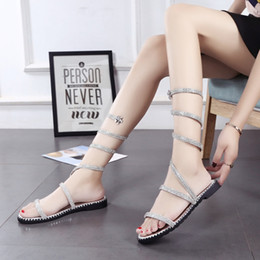 $enCountryForm.capitalKeyWord NZ - Hot Sale-Spring and Summer New Water Drill Around the Foot, Sandals, Flat-soled Fashion Sandals, Women's Shoes, Fashion in Europe and Amer