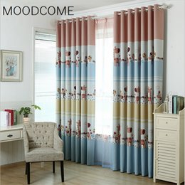 princess curtains Australia - Custom Bedroom Living Room Princess Wedding Room Children's Cartoon Pink Curtains for Fabrics Finished Pastoral E