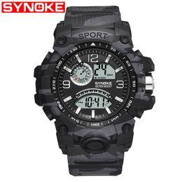 $enCountryForm.capitalKeyWord Australia - SYNOKE Digital Men Sport Watches 30M Waterproof Watch Man LED Digital Dual Movement Electronics Wristwatches Clock 2019