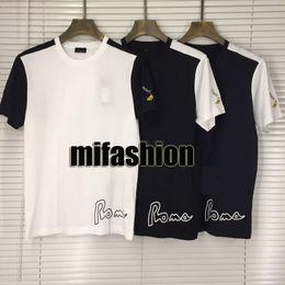 88af633952174e 19ss Luxury Europe Italy Roma Banana Keys Embroidery Tshirt Fashion Men  Women T Shirt Casual Cotton Tee Top