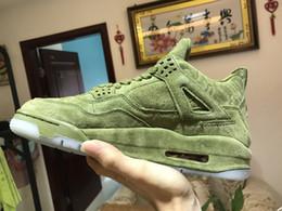 $enCountryForm.capitalKeyWord Australia - Hot Style New Men's Green Graffiti KAWS4 Sports Shoes Basketball Shoes 4S Fashionable Eye-Catching Free Shipping