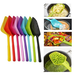 plastic shovels Australia - Plastic Spoon filter Drain Shovel Strainers Water Leaking Shovel Ice Shovel Fishing Fence Colanders Kitchen Gadget Cooking Tool