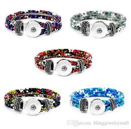 Chain Wrist Watches For Women Australia - Unisex Bohemian 18mm Metal Snap Pu Leather Flower Button Bracelet Carter Love Bangle Wrist Watches For Women SL8001