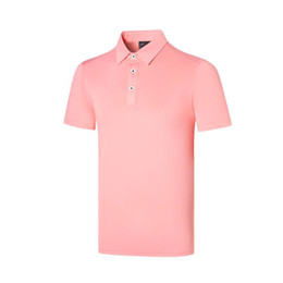 Wholesale Men New Summer Short sleeve Golf T-shirt 4 colors TiT Sports Golf clothes Leisure Sportswear Golf shirt S-XXL in choice Shirts Free shipping